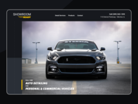 Showroom Ready - website design (single page)