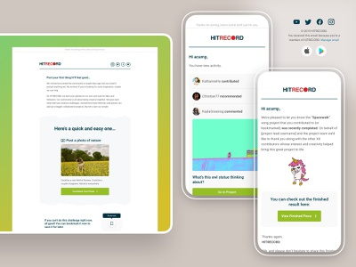 Email design - desktop/mobile email campaign - UI email footer notifications activity campaign mobile email desktop email ui ux web design email design
