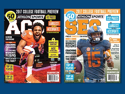 Athlon Sports Preseason College Football Magazines 2017 nashville football publications publishing college football sports magazines