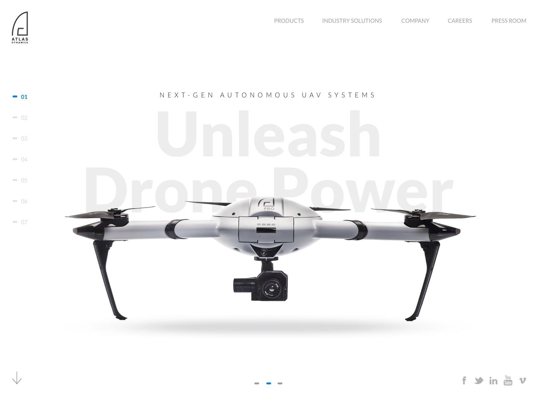 Atlas Dynamics Company Website by Mika Gdalevich | Dribbble | Dribbble