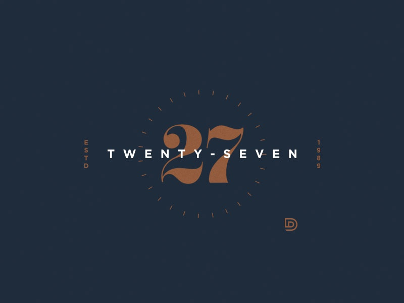 Birthday #27 by Dillon James Design on Dribbble