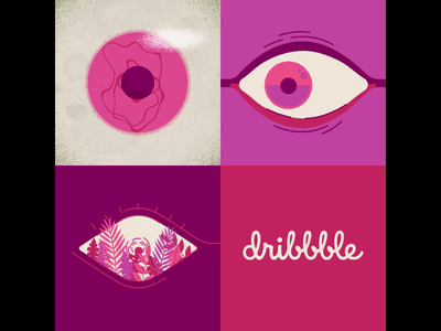 Dribbble Invitations! invite giveaway invite dribble dribbble eye eyes 2d vector illustration loop after effects motion graphics animation dribbbleinvite dribbblers thedesigntip supplyanddesign designspiration