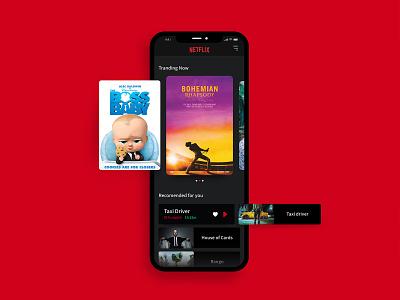 Netflix Remake branding card app ux menu daily design ui