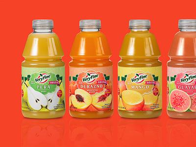 Veryfine Hispanic juices package design latino graphic design hispanic graphic design latinx branding latino package design hispanic package design