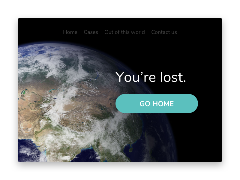Space 404 page 008 page not found lost globe world nasa space 404 dailyui