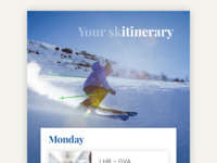 Skiing itinerary