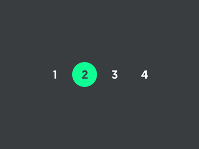 Pagination geomanist green 085 dailyui pagination numbering page number pages