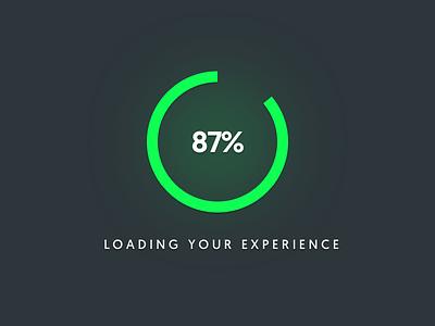 Loading your experience 086 dailyui waiting green progress bar loading