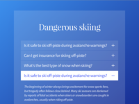 Skiing FAQ accordion