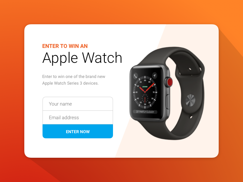 Apple Watch giveaway by Charlie Bob Gordon on Dribbble