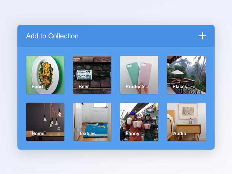Add to collection 099 dailyui category collection pinterest instagram images