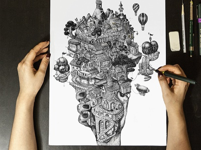 Faber Castell City drawing ink