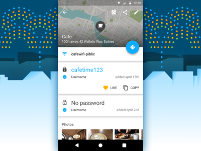 Michael Cook / Projects / Wifi Map | Dribbble