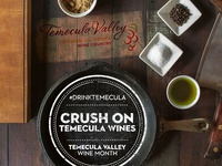 Crush on Temecula Wines Campaign Poster
