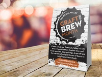 Craft Brew Month Table Tent