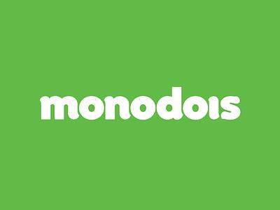 Monodois typography lettering logo branding