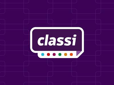 Classi classified ads fun logo branding