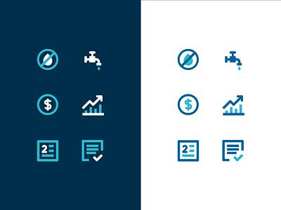 Saneago Icon Set icon sets water icon set icon ui design branding