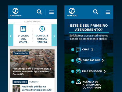 Saneago Mobile interface icon mobile ui ui design