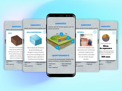 Interactive Infographic radioactive ui ui design interaction mobile interactive infographic design infographic