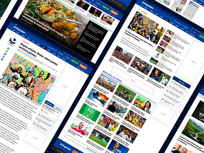 News portal design ui news portal newspaper news design news ux design ui design