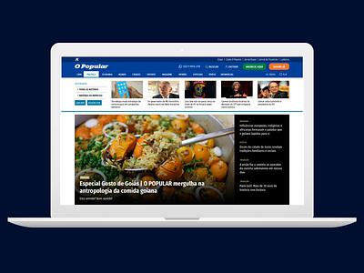 Mega menu o popular newspaper interaction mega menu news design news portal news ux design ui design