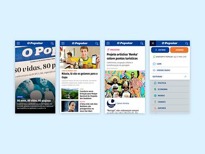 News Portal Mobile mobile ux design ui design ui news portal news design news design