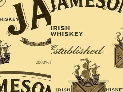 Jameson whiskey3 jameson dissect label branding logo design