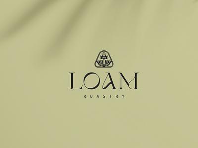 LOAM vector design minimal typography logo branding concept coffee