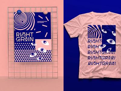 RIGHTGRAIN Identity Concept vector typography logo wordmark identity branding