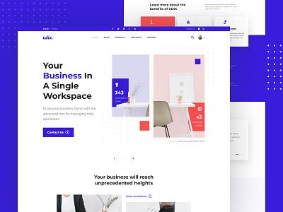 udix. — New Ecommerce Figma UI Kit design figma ui8 freebie demo premium template free ui kit landing marketing finance blue white adaptive web ux ui