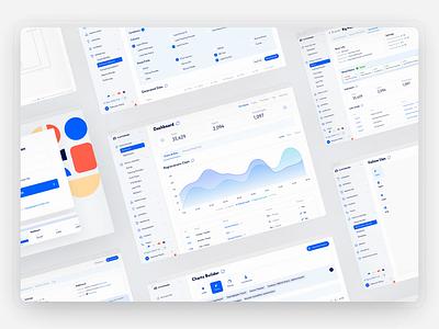 CRM & Website Screens Animation udix ui kit free ui8 affiliate dashboard marketing finance logo blue adaptive white crm web ux ui