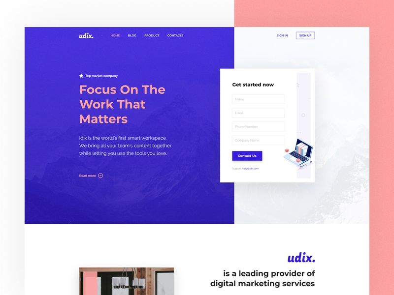 udix — New UI Kit for Figma builder corporate agency ecommerce marketing ui8 figma ui kit udix landing freebie free blue adaptive white web ux ui