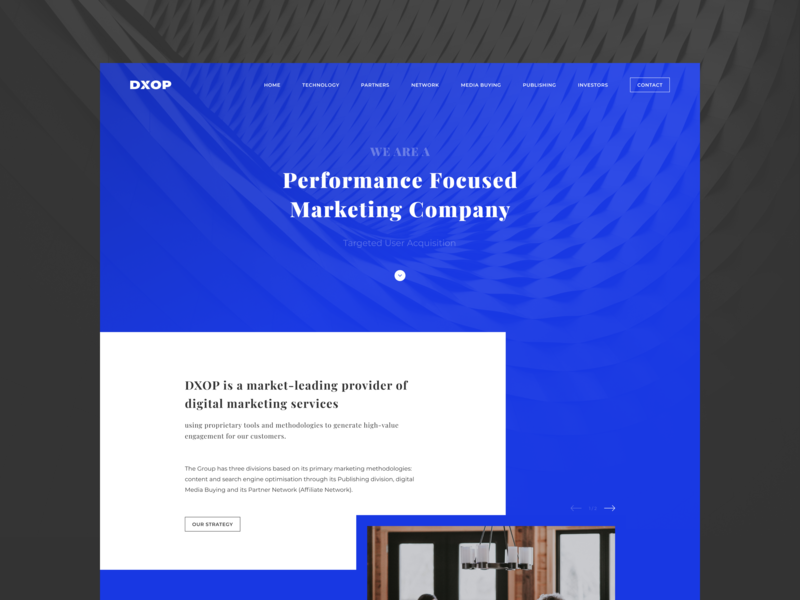 DXOP — Digital Marketing Company sketch template bathyscaphe blog freebies free dark logo branding blue white marketing finance adaptive web hipool ux ui