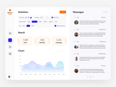 Soccy CRM — Message & Social Network Management