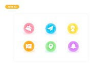 6 bright icons download free