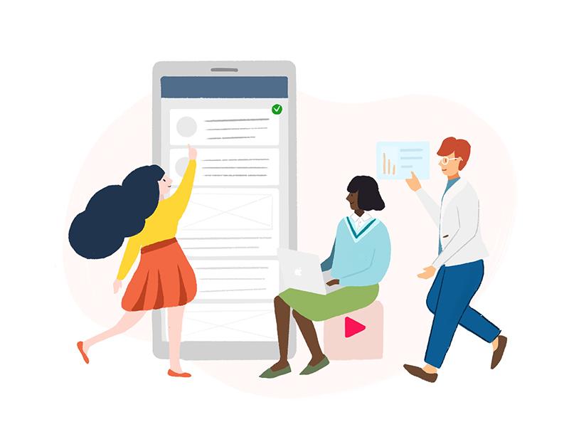 Team Work illustration for web