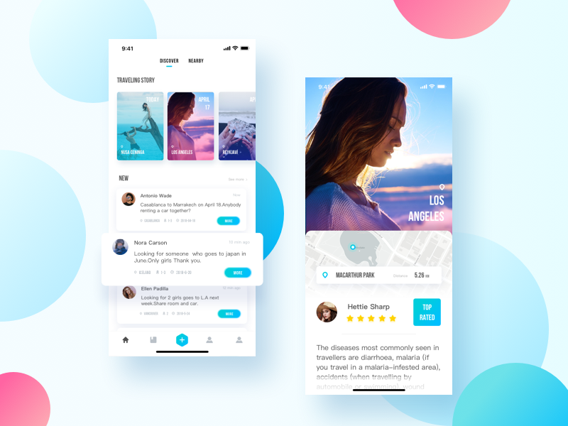 Hitchhiker Travel App Concept