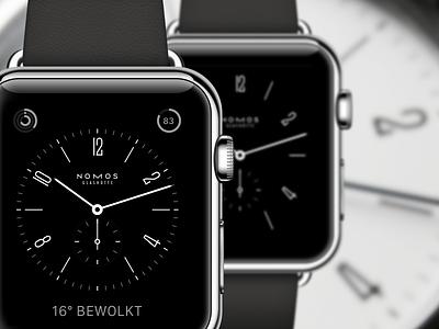 Apple Watch Nomos watch face  nomos watch face mockup apple watch
