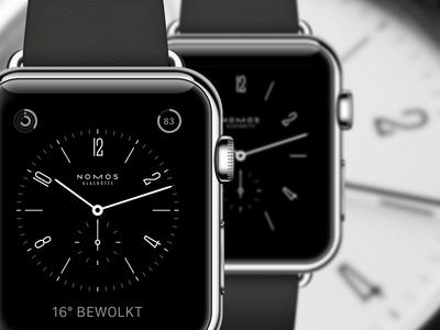 Apple Watch Nomos watch face