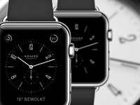 Apple Watch Nomos watch face