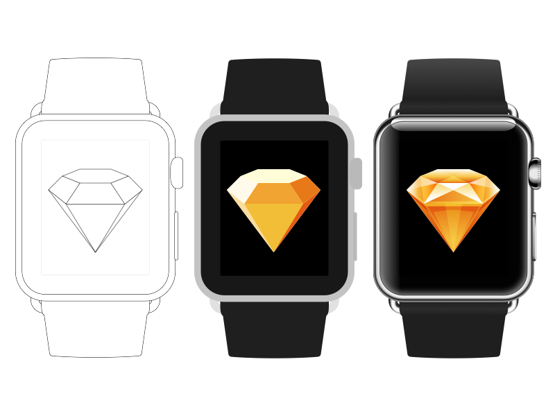 Apple Watch Sketch file free download template download free sketch mockup apple watch