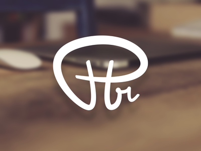 Ptr Logo for own brand / identity monogram calligraphy brand logo