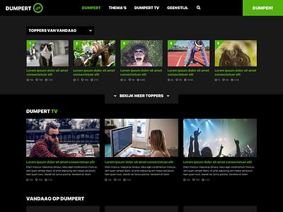Dumpert.nl Redesign sketch dumpert video interface web webdesign redesign