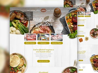 Enco artica corporate food webdesign