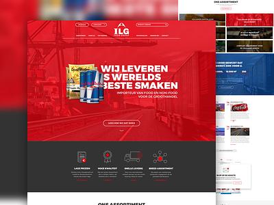 ILG Group artica corporate food webdesign