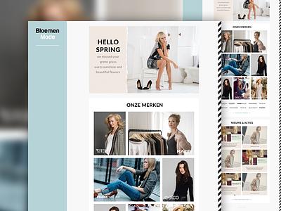 Bloemen Mode artica clothing fashion webdesign