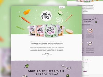 Miss Magic webdesign food corporate artica