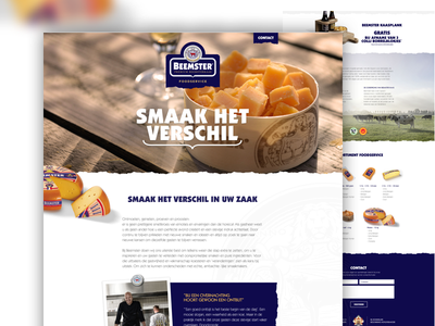 Beemster webdesign food corporate artica