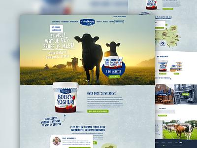 Zuivelhoeve webdesign food corporate artica